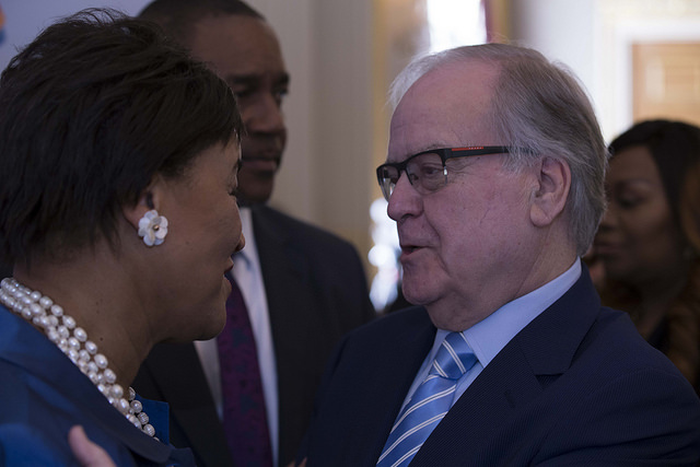 Rt Hon Patricia Scotland QC, Commonwealth Secretary-General with Malta High Commissioner, Norman Hamilton
