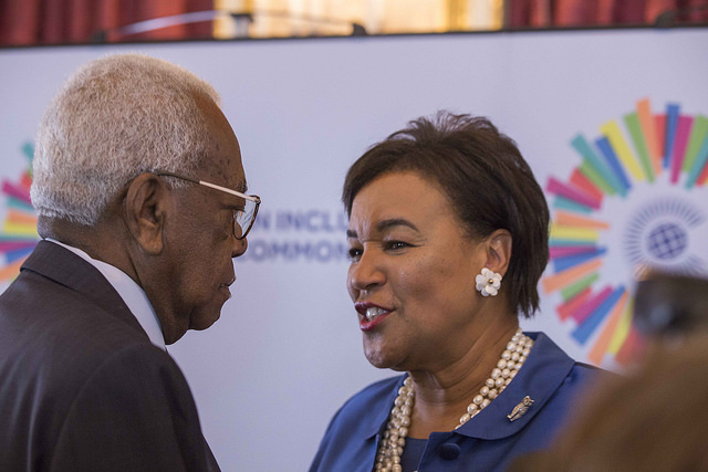 Secretary-General Rt Hon Patricia Scotland QC, and Sir Trevor Mcdonald