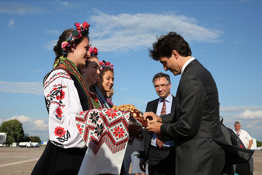 Prime Minister Justin Trudeau arrives in Kiev for a two-day visit to Ukraine