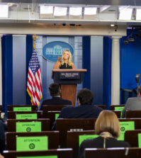Press Secretary Kayleigh McEnany holds a press briefing