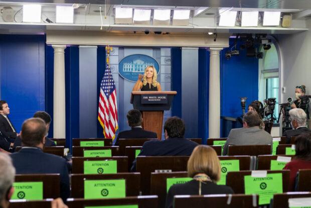 Press Secretary Kayleigh McEnany holds a press briefing
